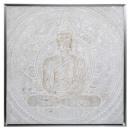 toile pei / sil / cad bouddha 7878, argent