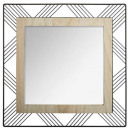 mirror square metal / wood joe 45, black