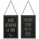 plaque metal citation 18x28, 3-fois assorti, coule