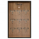 porte cles collect 24x38, marron