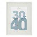 manu 30x40 white photo frame, white