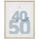 natural photo frame manu 40x50, beige