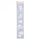 Großhandel Geschäftsausstattung: Stencil Christmas Streamer 60x12cm, 6- fach sortie