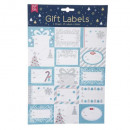 wholesale Business Equipment: labels pkg kdo glitter x15, 3- times assorted