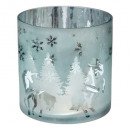 glass candle holder cylinder 2 printed d20cm