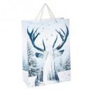 nagyker Ajándék csomagolás: téli ajándék táska + rn glitter g + gm