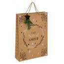 gift bag kraft pail + wood gm
