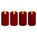 Wotywne wiadro led świeca / metal pmx4 rg, czerwon