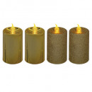 led votive ljus hink / metall pmx4 guld