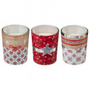 scented candle in printed tealight x3 5xh6