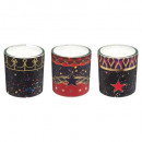 scented candle in printed tealight x6 4xh5