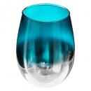 kandelaar glas rook groen d9,5xh12cm
