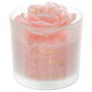 scented candle flower tealight glass d8x10 140g