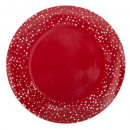 plate presentation red star / ar 33cm