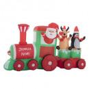 Santa Claus inflatable train 210cm