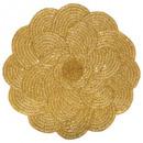 wholesale Table Linen: set table beads flower d35 gold