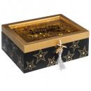 caja de madera brillante + pompón