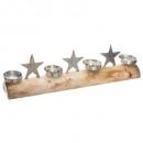 drewniany świecznik kufer 4 świecznik / gwiazda L6