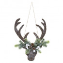decoration reindeer head suspension 34cm