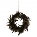 wholesale Home & Living: wreath feather peacock 20cm