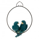 christmas decoration parrot resin 9cm, 2-times as