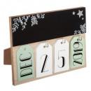 hurtownia Dekoracje: dekoracyjna rama z drewna kalendarza 20x15cm