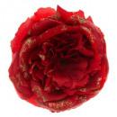 christmas decoration txt flower clip 10cm, 2-fold