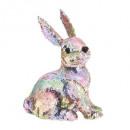 rabbit sequin decoration h30cm