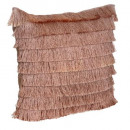 pink fringed neck cover 40cm