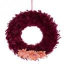 wreath feather flowers 60cm