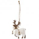 christmas decoration reindeer fur fur 10cm, 2-fold