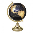 obj globe earth black gold h33cm