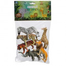animals in packets x6, 3- times assorted