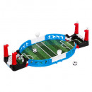 mini juego de futbolín, azul