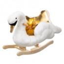 gold swan rocking