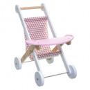 houten kinderwagen, roze