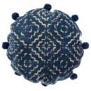 grossiste Coussins & Couvertures: coussin ronde indigo d40, 2-fois assorti, couleurs