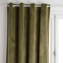 cortina opaca terciopelo caqui 140x260, verde kak