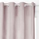 zwart velvet gordijn 140x260, roze cla