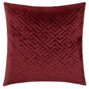 Pillow in velvet emb dolce red 40x40, red fo