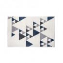 tapis triangle ilan bl 60x90, bleu foncé