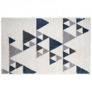 triangle rug ilan bl 120x170, dark blue