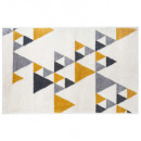 triangle rug ilan oc 120x170, yellow