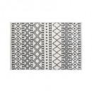 tapis etnik motif 60x90, gris foncé