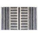 tapis etnik rayure 120x170, gris foncé
