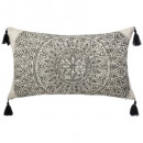 Pillow mandala delhi 30x50, black & white