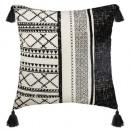 coussin corde delhi 40x40, noir & blanc