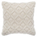 wholesale Cushions & Blankets: Pillow macram ete 40x40, beige