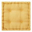 coussin sol otto ocre 40x40x8, jaune