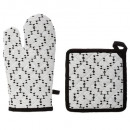 gant + manique outland, noir & blanc